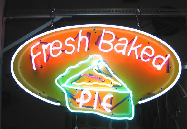 PIE: Cakes Pies Cookies Mmmmgood, Deco Neon Signs, Neon Lights, Granny S Pies, Food Pies, Kitchen, Pie Signs, Window Signs