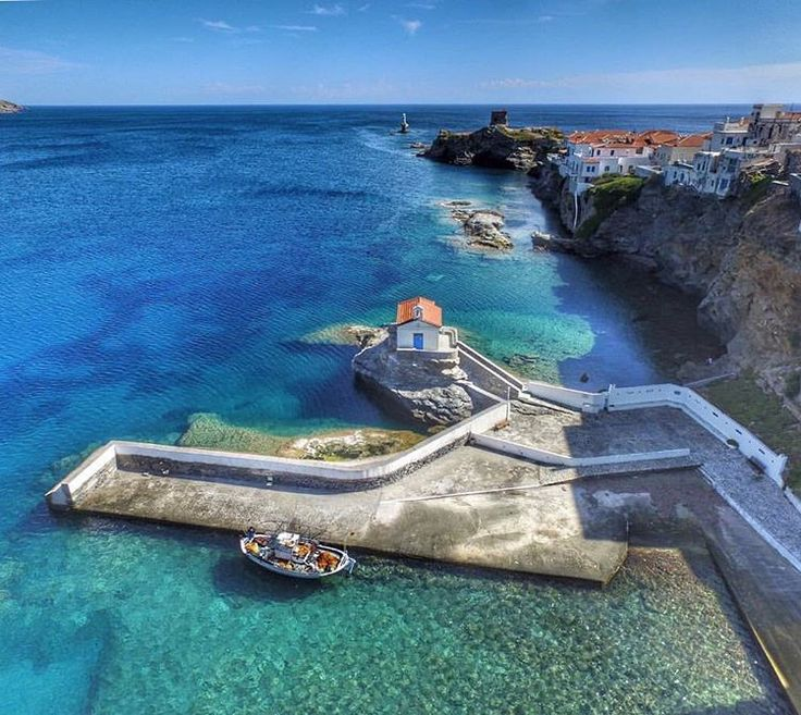 island of Andros (Άνδρος) Outstanding Chora village view from above !