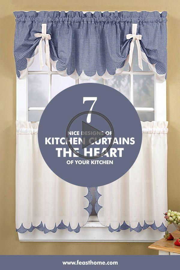 7 Nice Designs Of Kitchen Curtains
