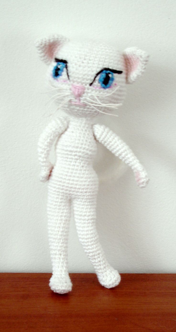 37 best free cat crochet patterns images on pinterest amigurumi free angela the cat amigurumi pattern bankloansurffo Image collections
