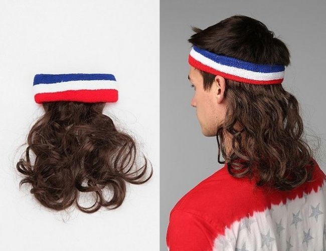 YEs!!!!---The mullet wig. What do you think?