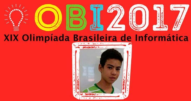 José Anderson que é estudante do 3º período de Informática Integrado, concorrer na seletiva mundial de Olimpíadas de Programação.