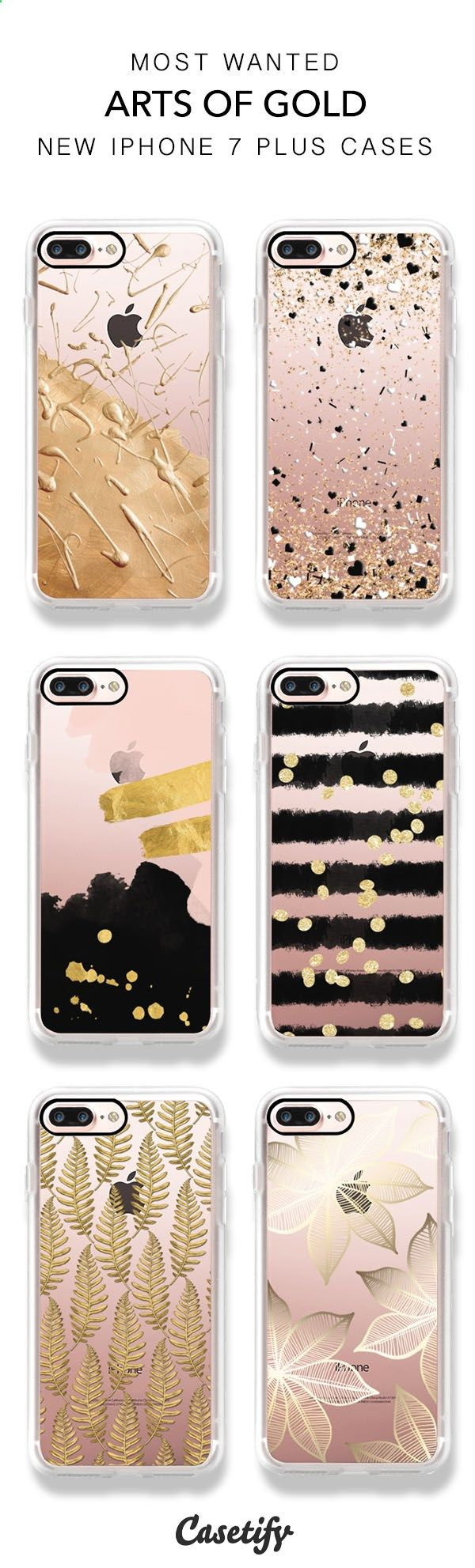 Best selling Gold and Bold iPhone 7 and iPhone 7 Plus cases. Shop the Art of Gold Collection here > www.casetify.com/...