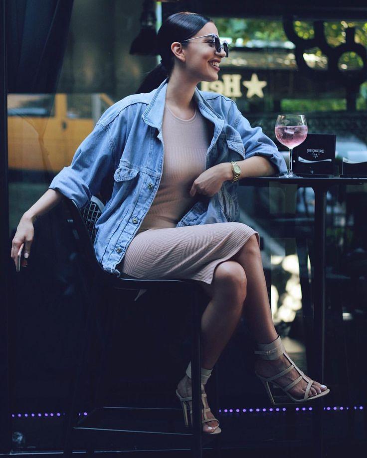 "Jelena Peric on Instagram: ""•Rose lemonade and I• #OOTD Dress: @hotmiamistyles Jacket: @diesel Heels: @publicdesire by @kristina.su #jglam#j_make_up"""