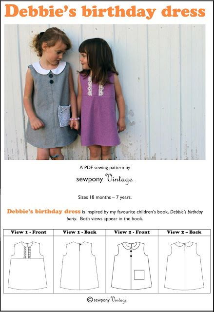 sewpony: PATTERN RELEASE: Debbie's birthday dress !! (and a discount!)