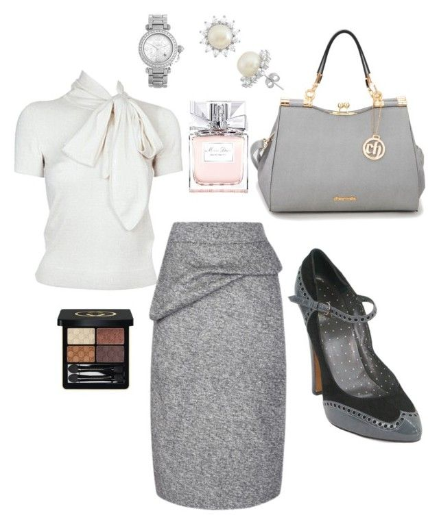 """time for work"" by Diva of Cake Polyvore featuring Ralph Lauren, Gioelli, Sonia Rykiel, Christian Dior, Gucci and Cartier"