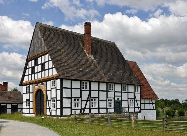 old+german+architecture | Old architecture at open air museum in Detmold Germany