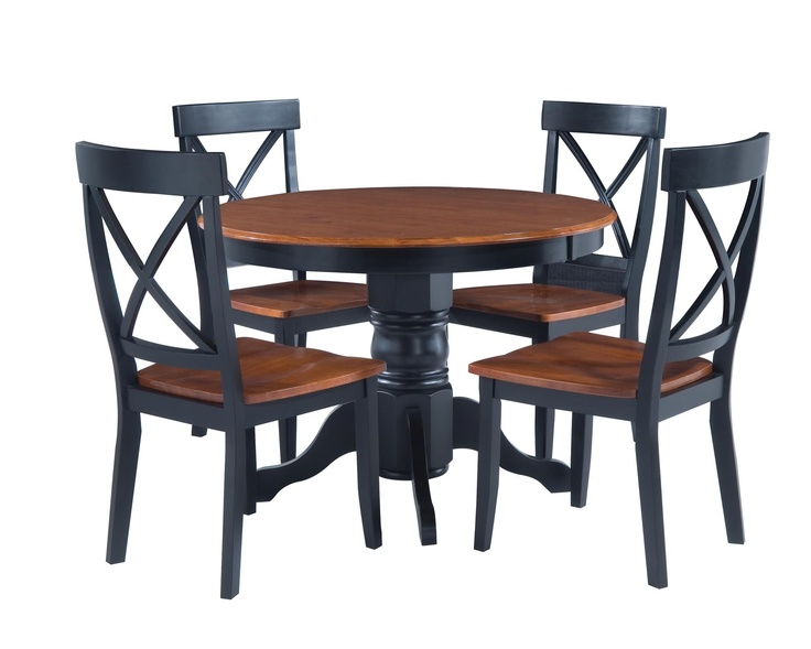 This Stately Dining Set Includes A Round Pedestal Table And Four High Chairs Elegant Features Solid Hardwood Construction In