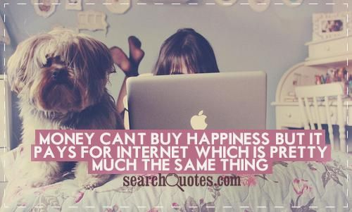 Money Can T Buy Happiness Quote: Funny Quote Money Can't Buy Happiness But It Pays For