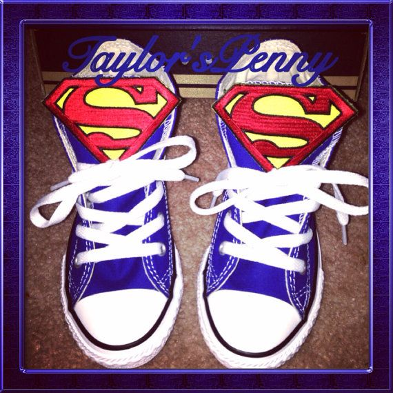 Superman Converse All Star Chuck Taylor by TaylorsPenny on Etsy, $70.00
