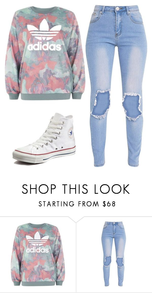"""""""Untitled #101"""" by mairethekiller on Polyvore featuring adidas and Converse"""