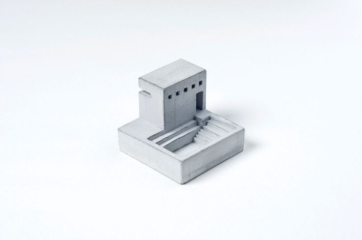 Miniature concrete buildings by Imaginario Sugestivo
