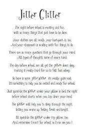 Image result for jitter glitter poem printable