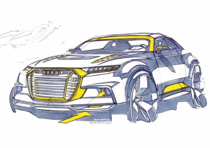 Audi Crosslane Coupe Concept - Design Sketch