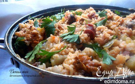 Джамбалайя с лисичками | Кулинарные рецепты от «Едим дома!»