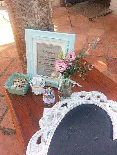 Shabby Chic White Heart Chalkboard from www.capeoflove.com