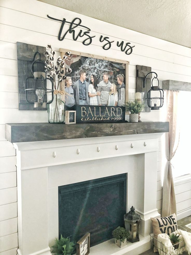Farmhouse Decor Love The This Is Us Sign Above The Fireplace