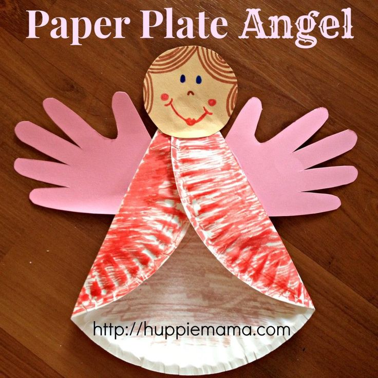 Paper Plate Angel step 4
