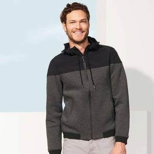 SOL'S VOLTAGE MEN'S HOODED JACKET  STYLE  Zip opening Drawcord and stoppers at hood Contrast ribbed cuffs and bottom 2 pockets