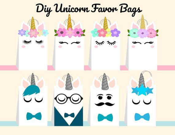 49++ Unicorn party box template ideas