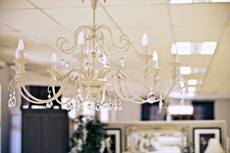 Our Laubagne chandelier with crystal detail..