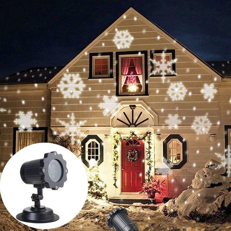 Outdoor Led Moving Snowflake Landscape Laser Projector Lamp Garden Xmas Light