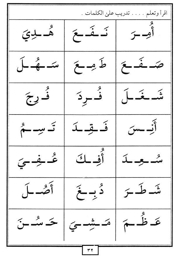 LIVRET : APPRENDRE L'ALPHABET ET LES HARAKATE (NOUR AL-BAYAN)
