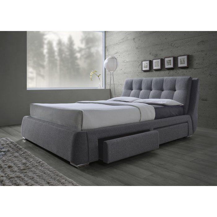 Oloughlin Upholstered Panel Bed King Storage Bed Upholstered Beds Bed Storage Drawers
