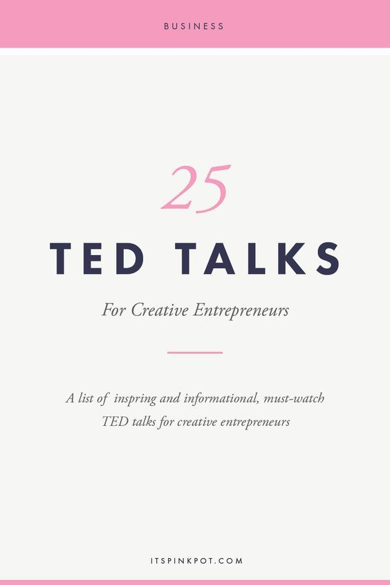 Often as business owners wearing multiple hats, we get exhausted and burnt out! To keep you going, here are 25 ted talks to pep up and inspire creative business owners!