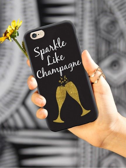 Give your iPhone 6 & 6s cell phone a unique style all its own. This Sparkle Like Champagne Case was professionally created and printed in the United States. Textured printing raises parts of the images, creating a unique feel like no other case.  The case features high-quality, original design and images that not only set you apart, but keep your device protected - making it the perfect iPhone 6 & 6s accessory!