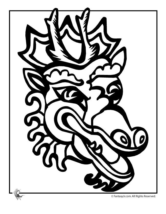 fantasy jr chinese dragon coloring 4