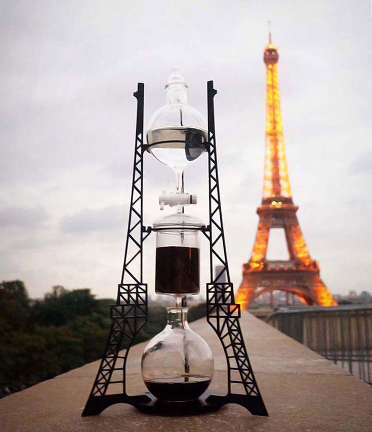 dutch lab reveals architectural steampunk cold drip coffee machine - designboom   architecture & design magazine