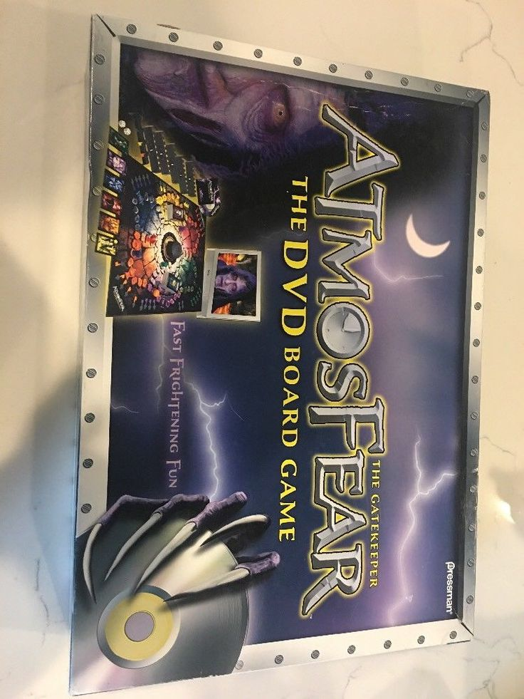 Atmosfear The gatekeeper DVD video Board Game Complete RARE #Pressman