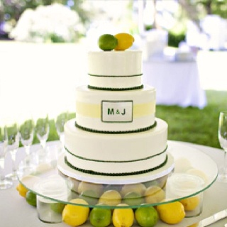 lemon and a lime wedding cake