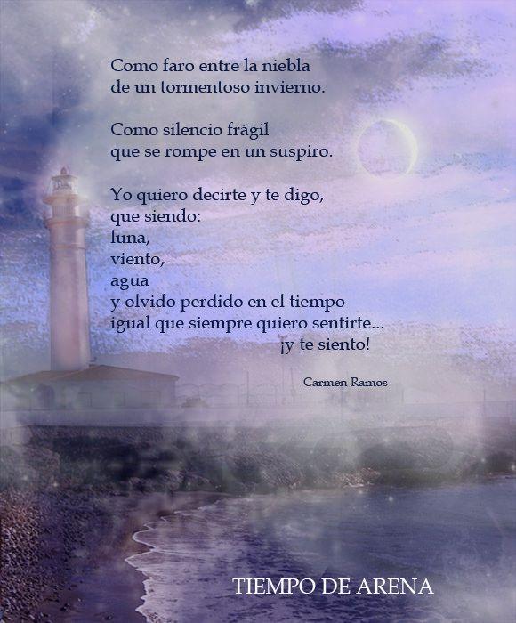https://flic.kr/p/xaYRhs | El faro de Tiempo de arena | El faro de Tiempo de arena perdido en la niebla. Poema visual de Carmen Ramos y Antonio Santana