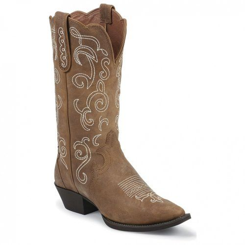 Justin Women S Fancy Stitched Stampede Cowgirl Boot Snip