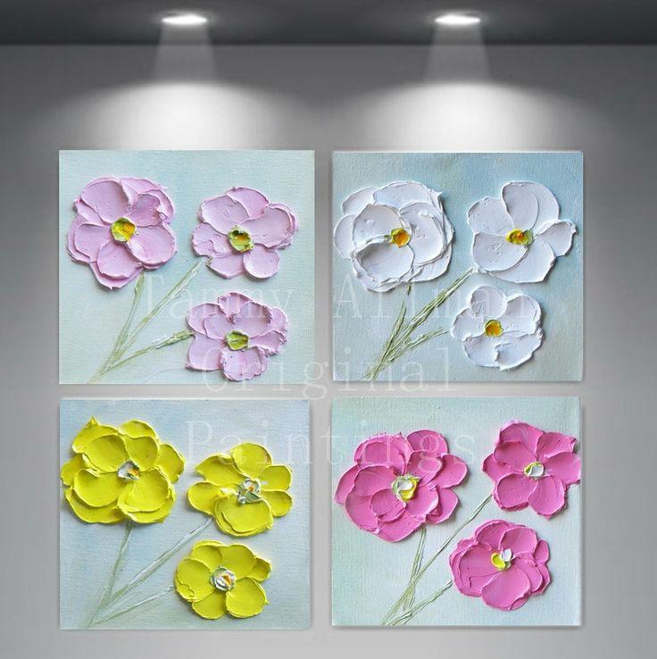 Orginial aceite pintura minimalista Impasto por KenziesCottage, $140,00