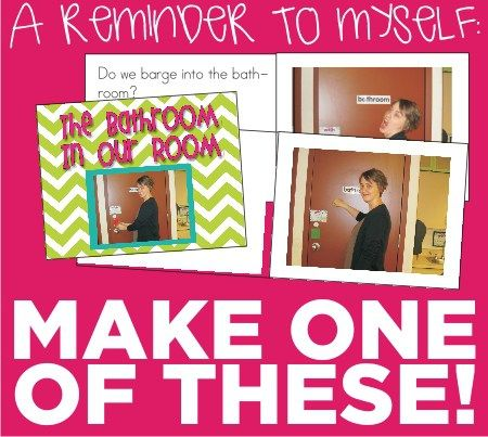 Make myself a classroom procedures book for the bathroom for next year! This one is from KindergartenWorks