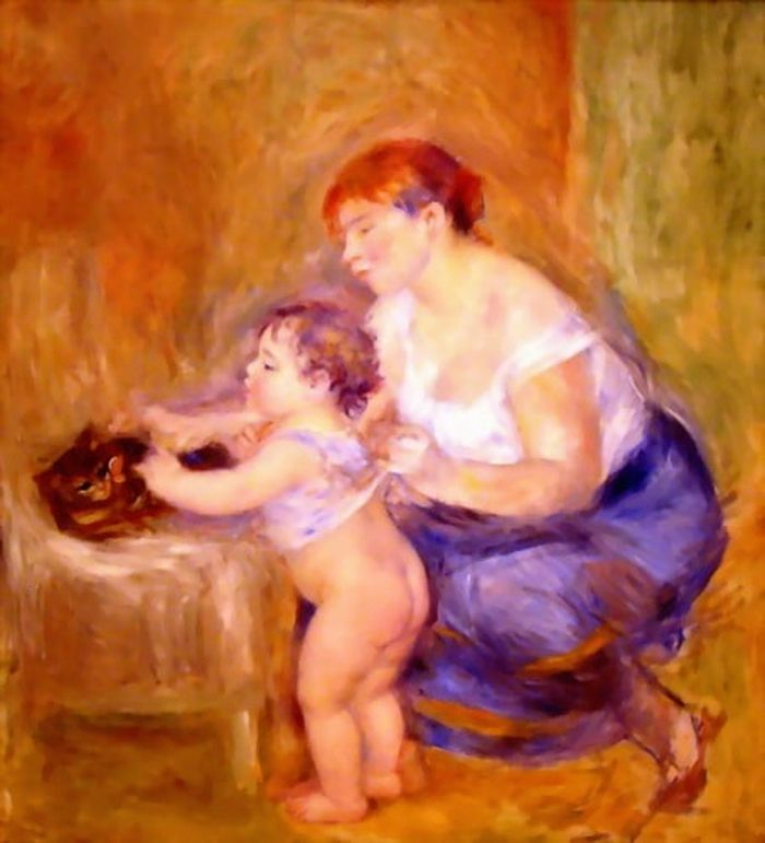 Mother and Child Pierre Auguste Renoir