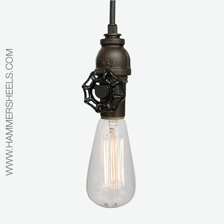 progress lighting joy pendant. oil rubbed bronze industrial pendant light. pipe light with upcycled vintage valve key black progress lighting joy