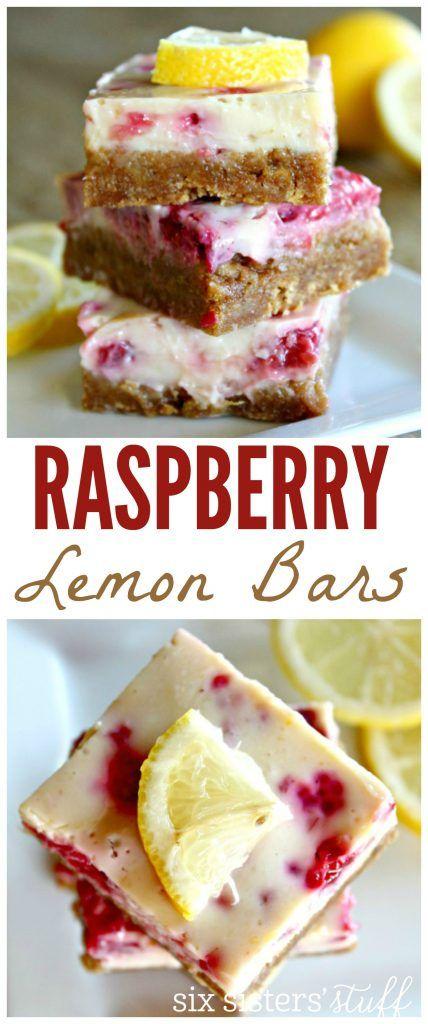 Raspberry Lemon Bars from Sixsistersstuff.com
