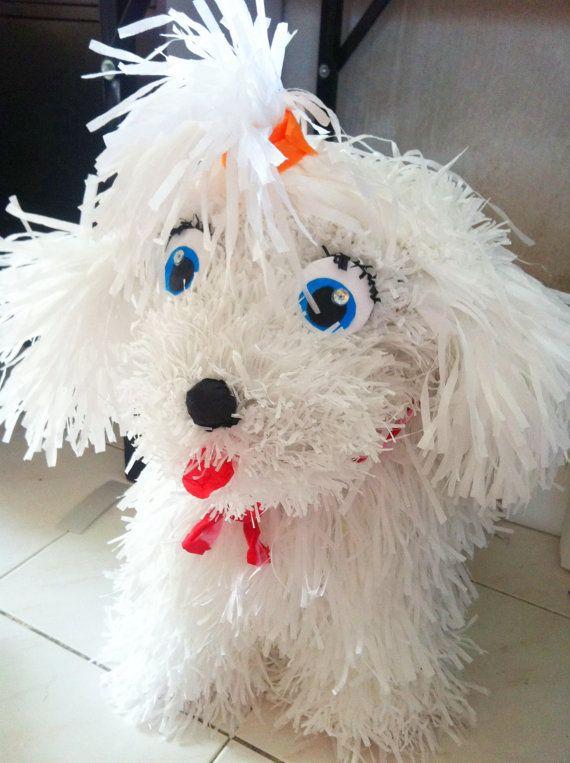 Too cute! Dog Piñatas by ManeePaperArt on Etsy, $75.00