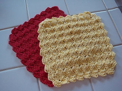 crochet pattern - tulip stitch wash cloth