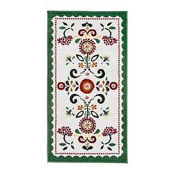 "ÅKERKULLA rug, low pile Length: 4 ' 11 "" Width: 2 ' 7 "" Surface density: 8 oz/sq ft Length: 150 cm Width: 80 cm Surface density: 2400 g/m²"