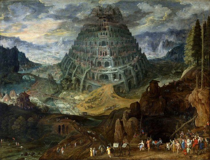 Вавилонская башня (совместно с Тобиасом Верхахтом). Брейгель Ян (Bruegel Jan) (1568 — 1625)  Известный фламандский художник. Родился в Брюсселе. Происходил из великой династии фламандских живописцев Брейгелей; его отцом был Питер Брейгель Старший.