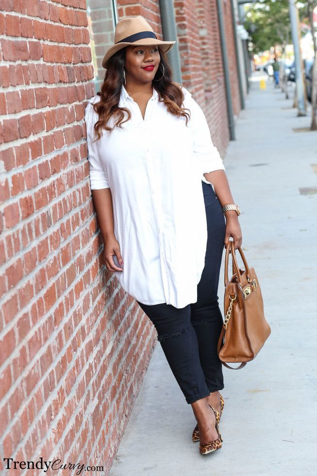 Love this look. Classic and so modern. Plus Size Fashion for Women - Trendy Curvy: