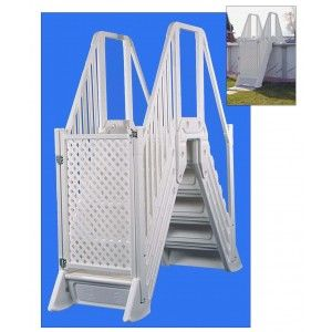 above ground pool steps for handicap oltre 25 fantastiche idee su above ground pool ladders su - Above Ground Pool Steps For Handicap