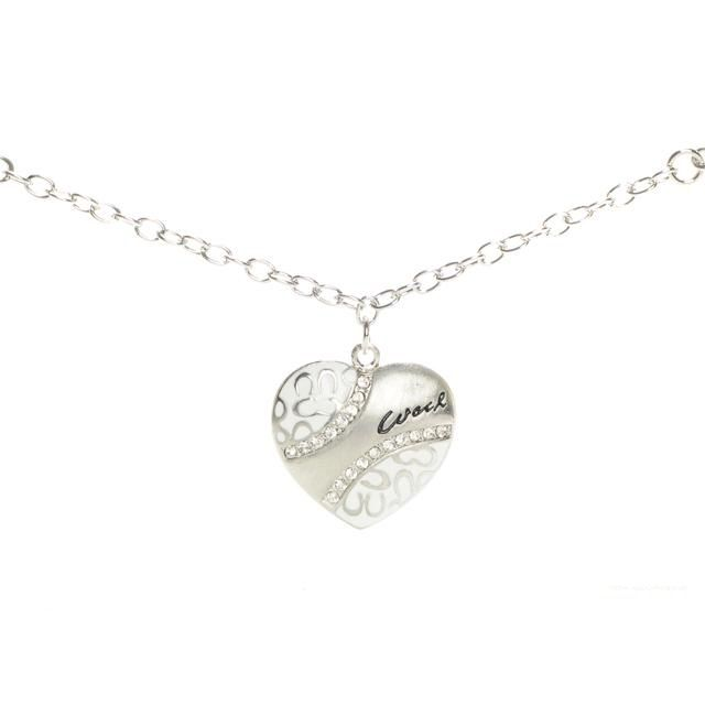 #Coach Outlet Store#Coach Love Heart White Necklaces ALM$14.99 .I love it.