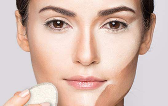 Gesicht konturieren mit Camouflage Make-up: Verblenden