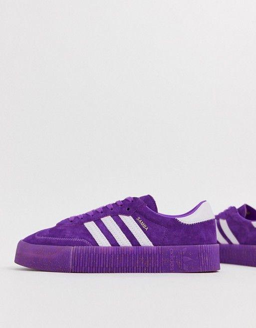 reputable site 51a91 37ef9 adidas Originals TFL Samba Rose in purple and white   ASOS
